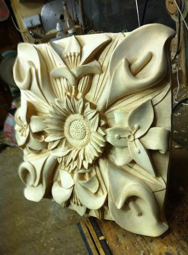 Peter has recently completed hand carved pieces for Truro cathedral.